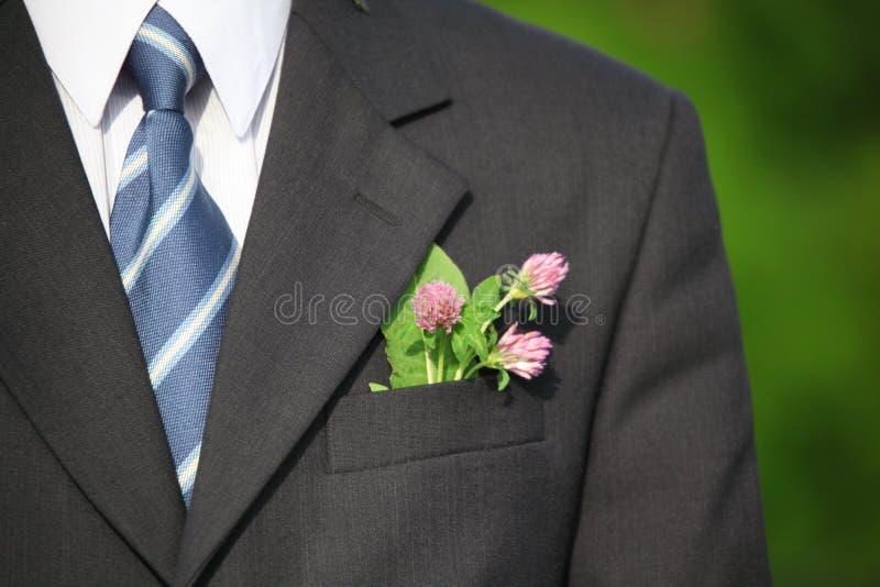 Fleur dans la poche du procès image libre de droits