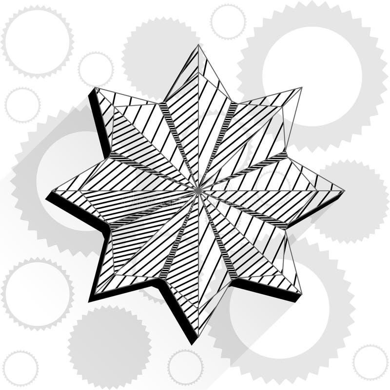 Fleur dans le bas poly style illustration libre de droits