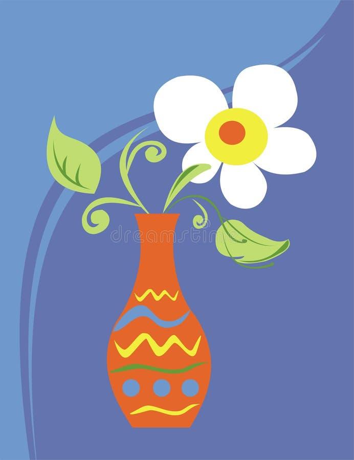Fleur dans un vase illustration de vecteur