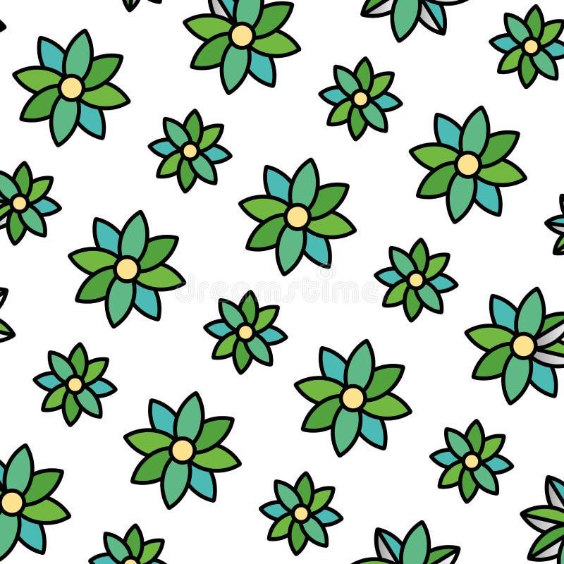 Fleur de beauté de couleur avec le fond naturel de pétales illustration stock