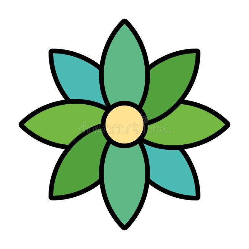 Fleur de beauté de couleur avec le style naturel de pétales illustration libre de droits