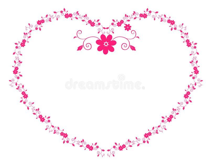 Fleur de coeur illustration libre de droits