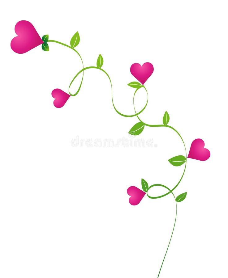 Fleur de coeur illustration stock