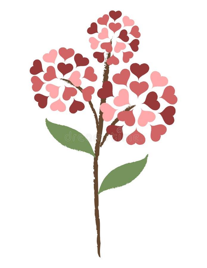 Fleur de coeur illustration de vecteur