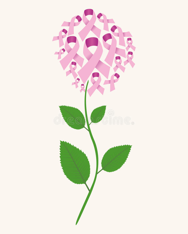 Fleur de concept de cancer de Brest illustration de vecteur