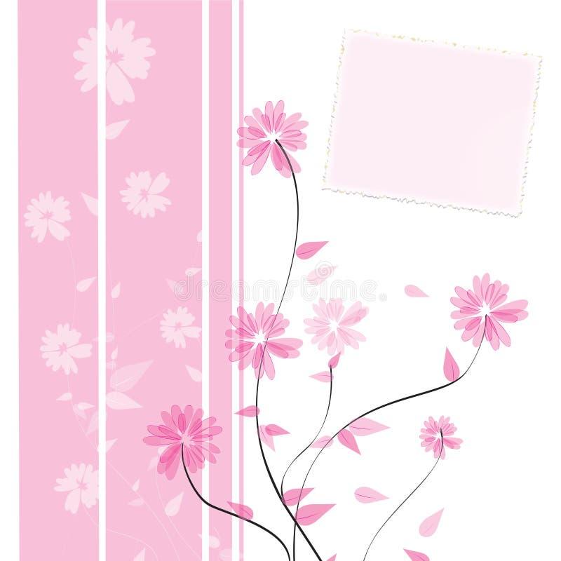 fleur de conception de carte illustration de vecteur