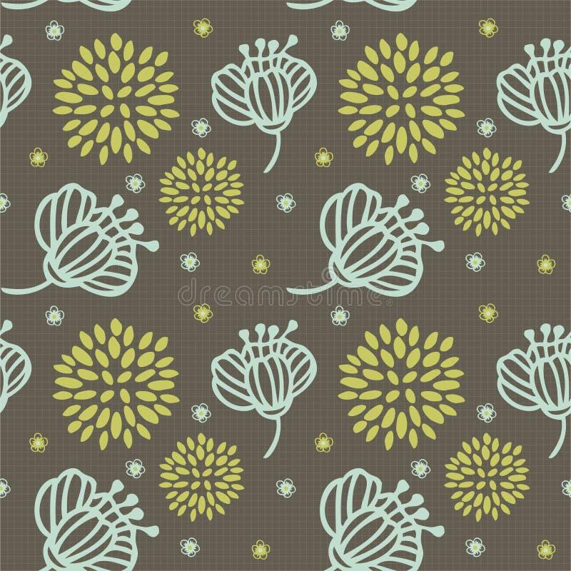 Fleur de configuration sans joint illustration stock