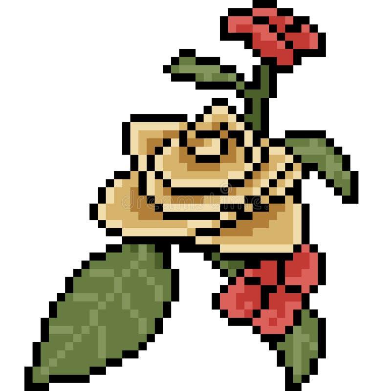 Fleur De Fleur Dart De Pixel De Vecteur Illustration De