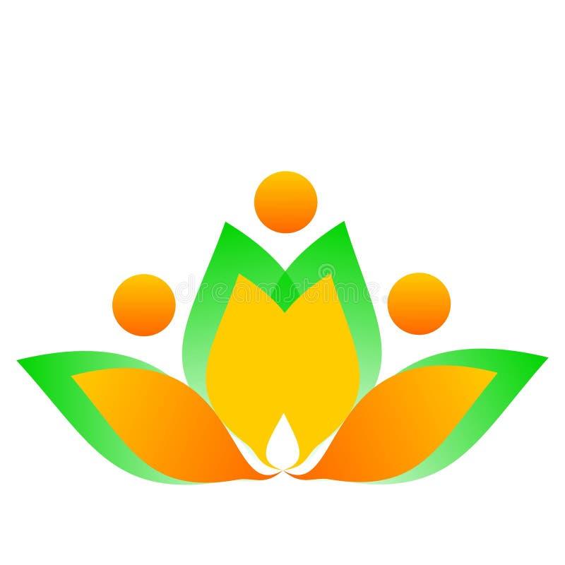 Fleur de dessin de logo de vecteur illustration stock