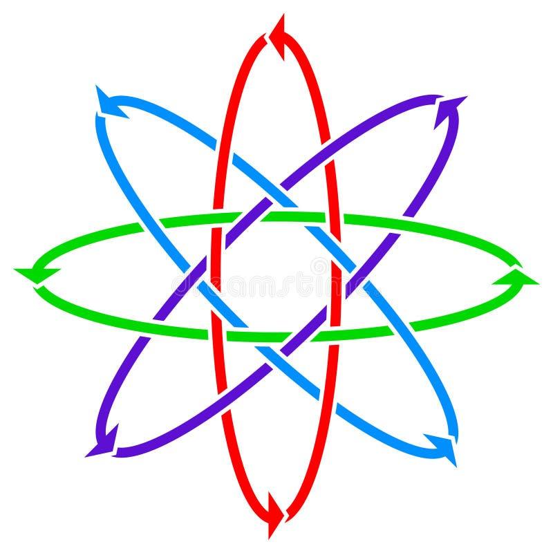 Fleur de flèches illustration libre de droits