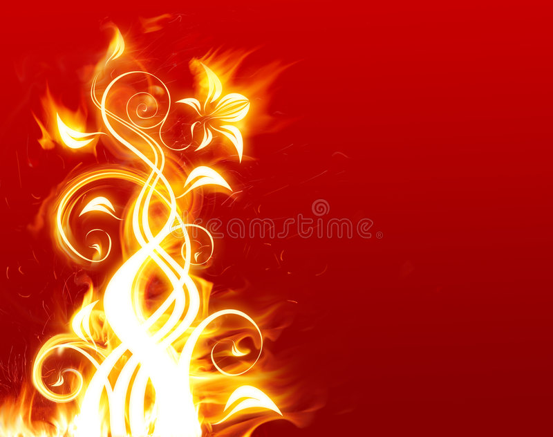 Fleur de flambage illustration stock