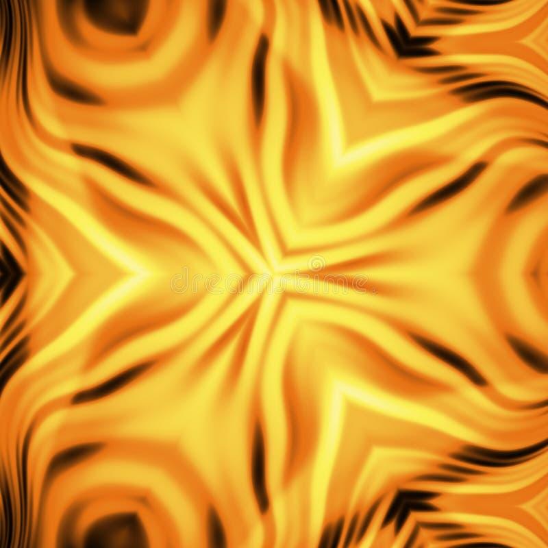 Fleur de flammes illustration de vecteur