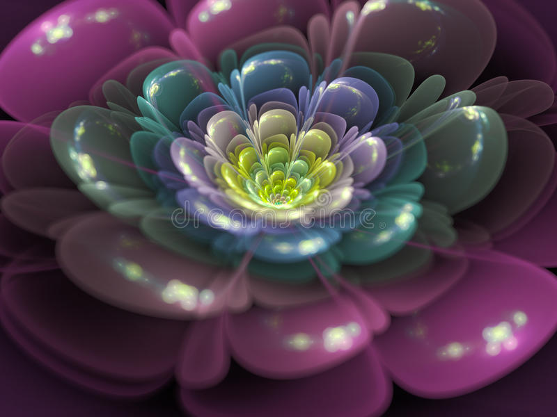 Fleur de fractale illustration stock