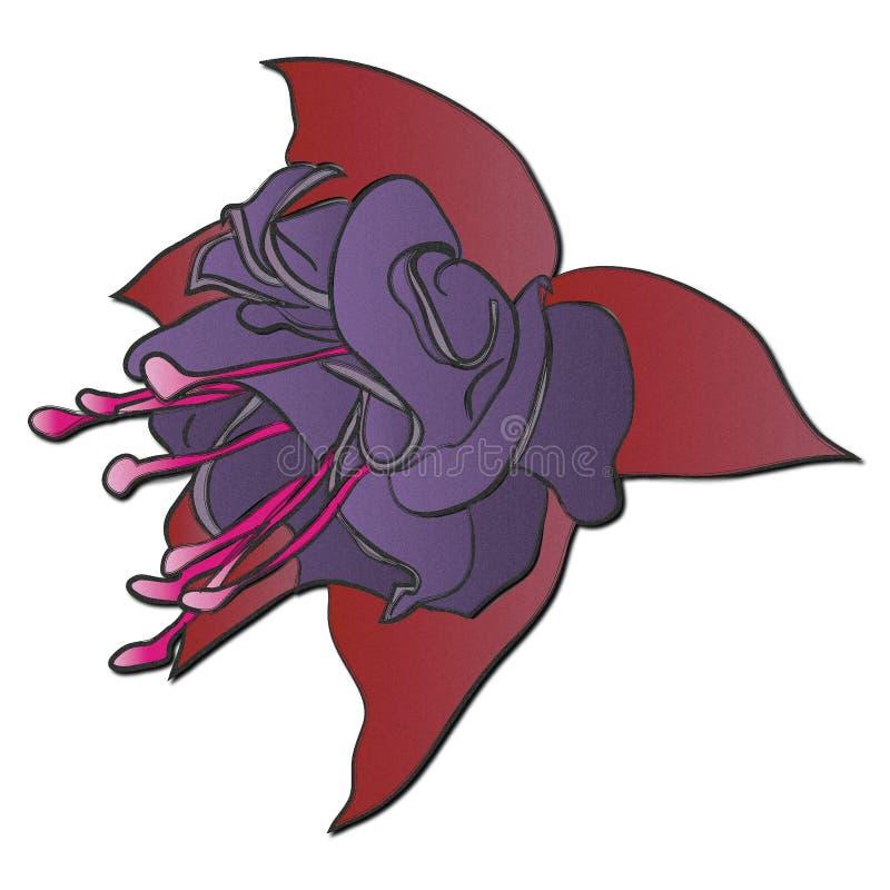Fleur de Fuscia images libres de droits