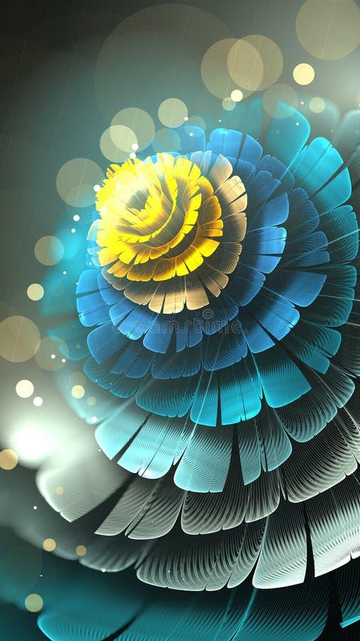 Fleur de gel de fractale illustration libre de droits