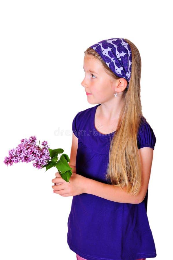 Fleur de jeune fille image stock