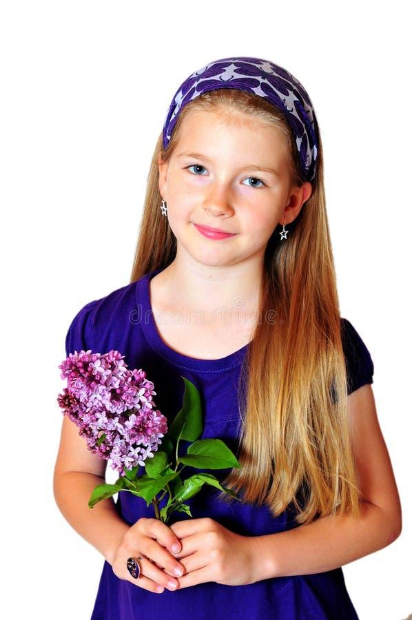 Fleur de jeune fille photographie stock libre de droits