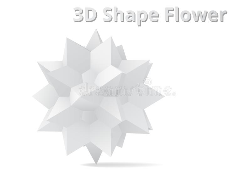 fleur de la forme 3D illustration libre de droits