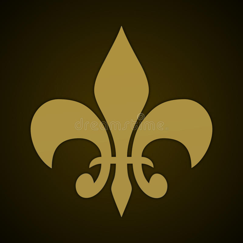 Fleur de lis stock illustration