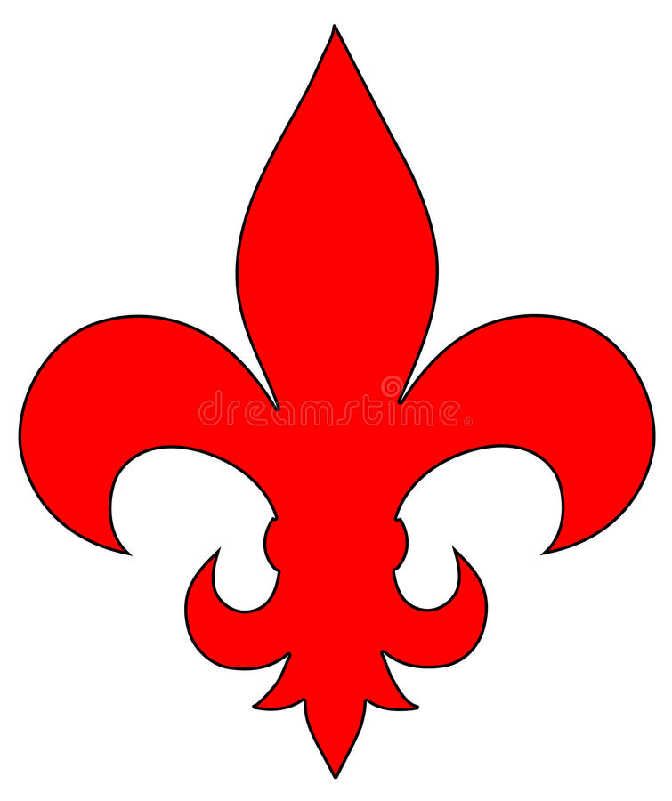 Download Fleur de Lis stock illustration. Image of museum, isolated - 23695528