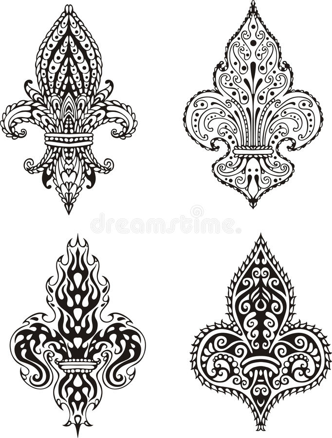 Fleur-de-lis royalty free illustration