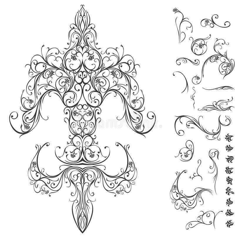 Fleur de Lis royalty ilustracja