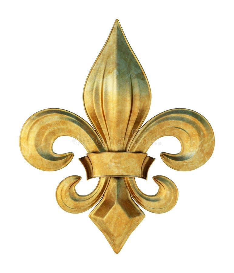 Fleur de lis. Illustration of a fleur de lis symbol in metal