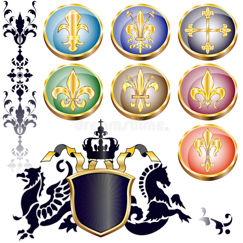 Download Fleur-de-lis and arms stock vector. Illustration of myth - 25616128