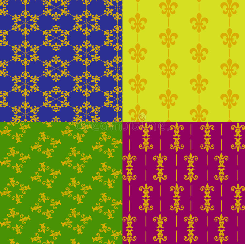 Fleur de lis atterns royaltyfri illustrationer