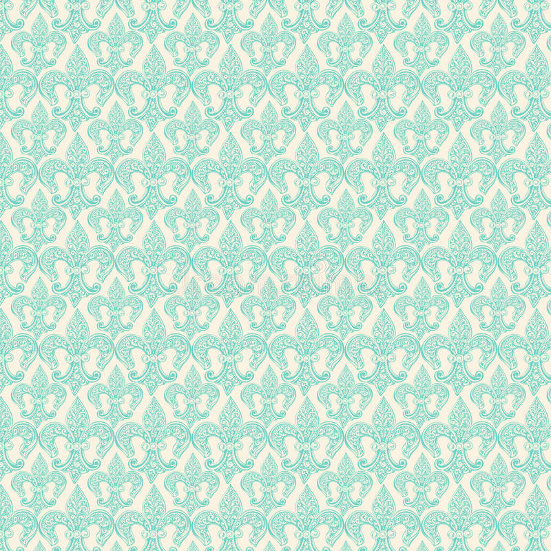 Fleur-de-lis blue repeat seamless pattern stock image