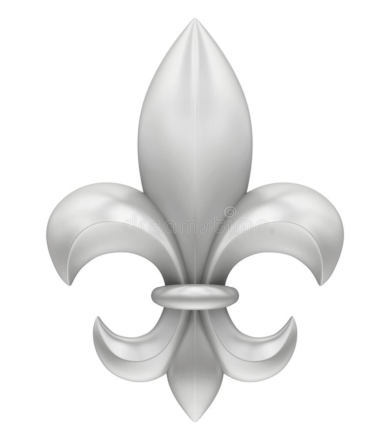 Fleur de lis d'isolement illustration de vecteur