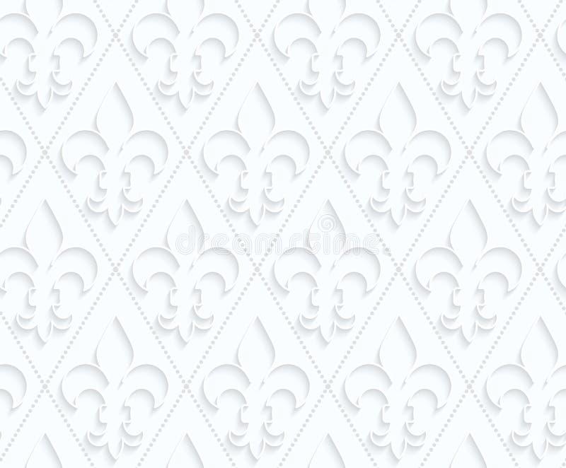 Fleur de lis de papier de Quilling avec des points illustration libre de droits