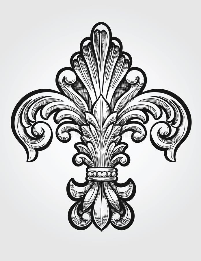 Fleur de Lis elegante ilustração royalty free