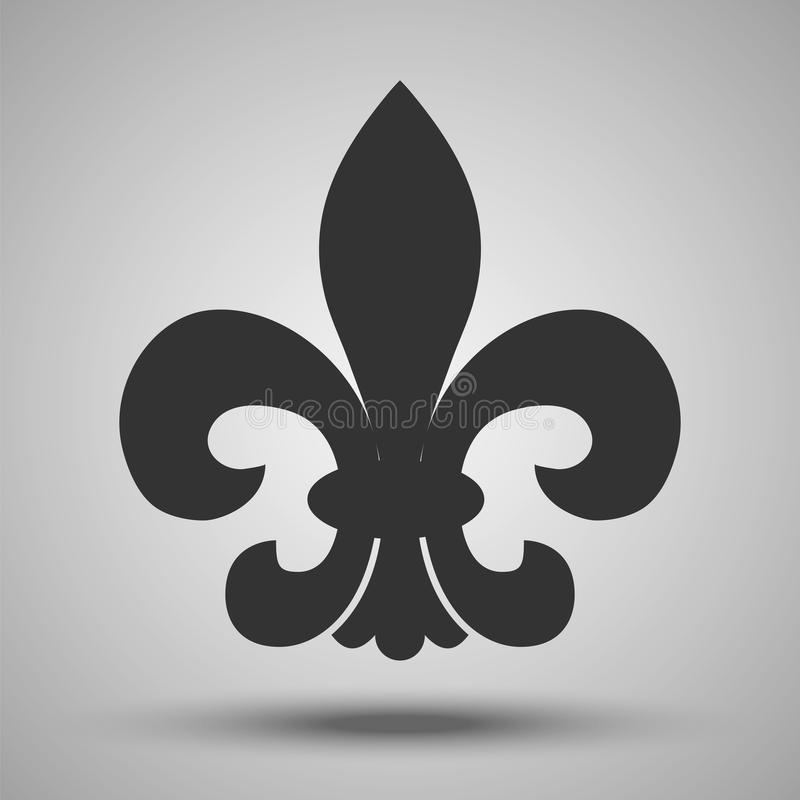 French Royal Historical Symbol Vector Illustrati Stock