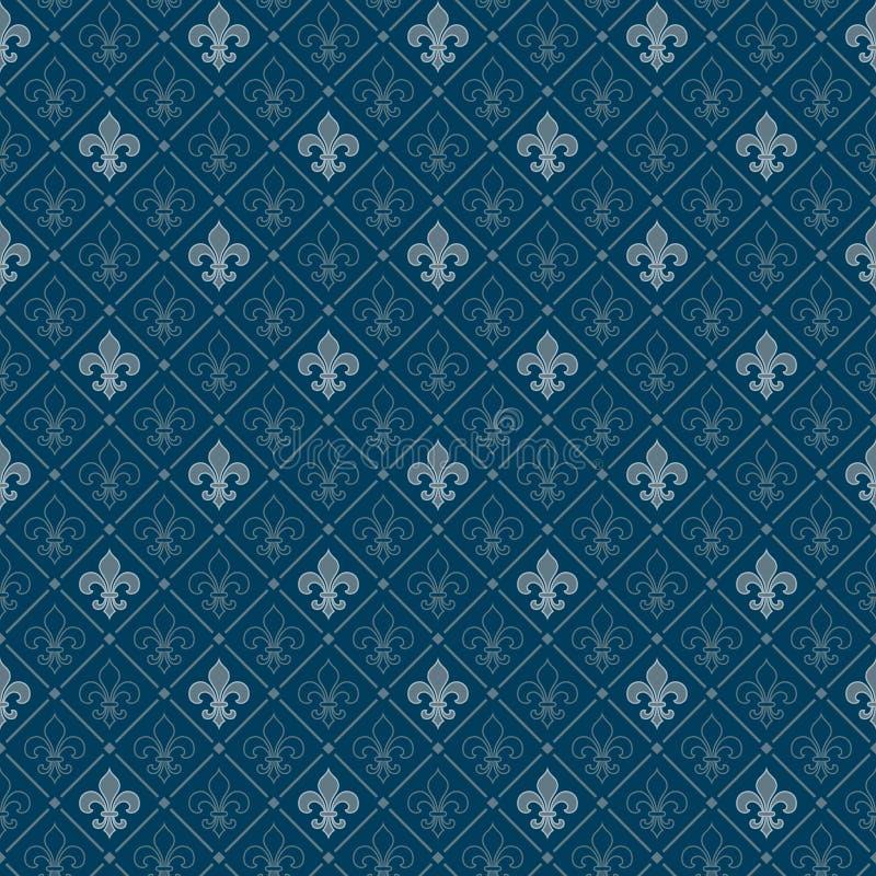 Fleur de Lis Muster stock abbildung