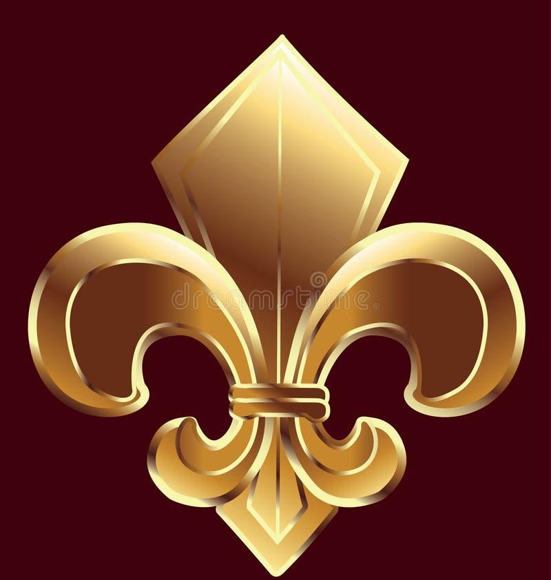 Fleur De Lis, New Orleans im Gold vektor abbildung