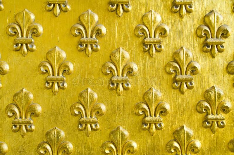 Fleur DE Lis patroon royalty-vrije stock afbeeldingen