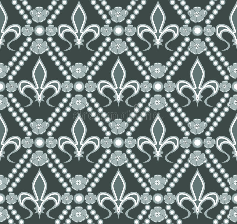 Fleur de lis pattern vector illustration