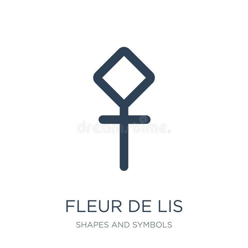fleur DE lis pictogram in in ontwerpstijl fleur DE lis pictogram op witte achtergrond wordt geïsoleerd die fleur DE lis vector ee royalty-vrije illustratie