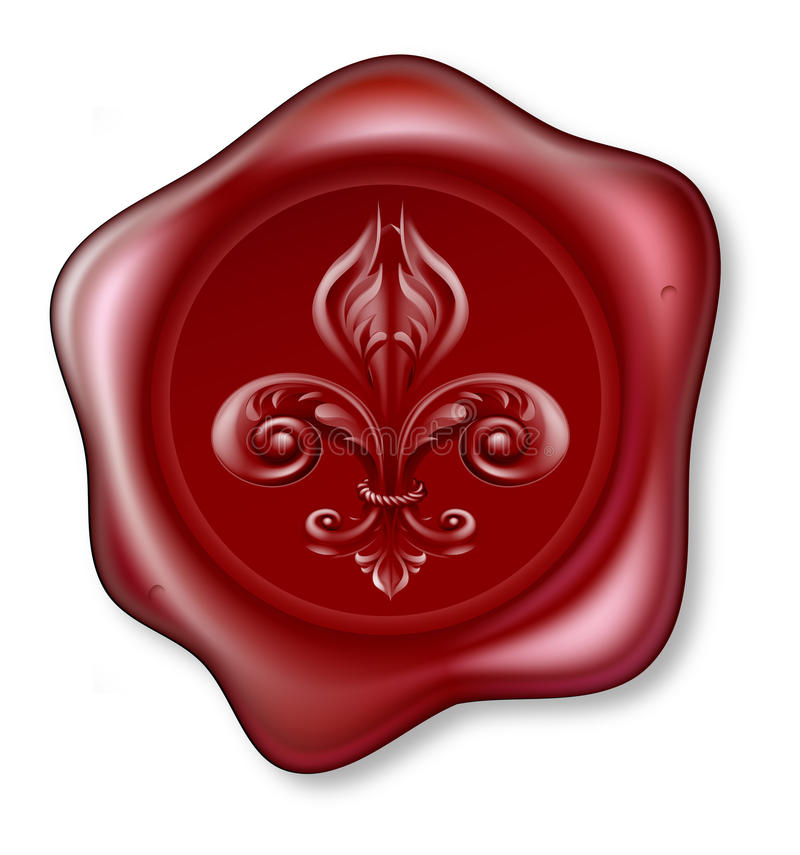 Download Fleur-de-lis Sealing Wax Stock Image - Image: 26010281
