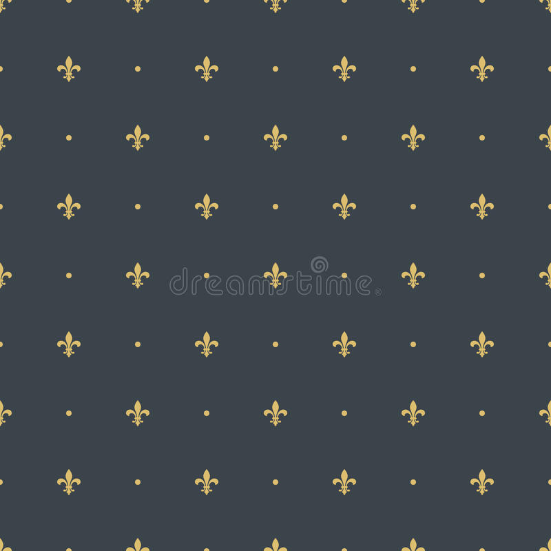 Fleur-de-lis seamless pattern background vector illustration