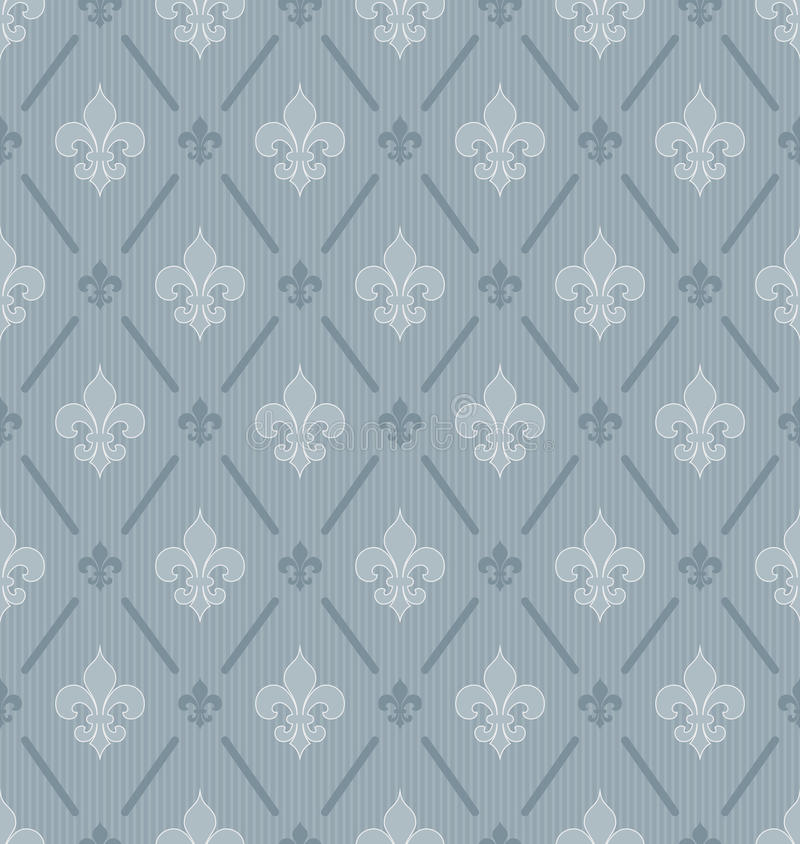 Fleur-de-lis seamless wallpaper. royalty free illustration