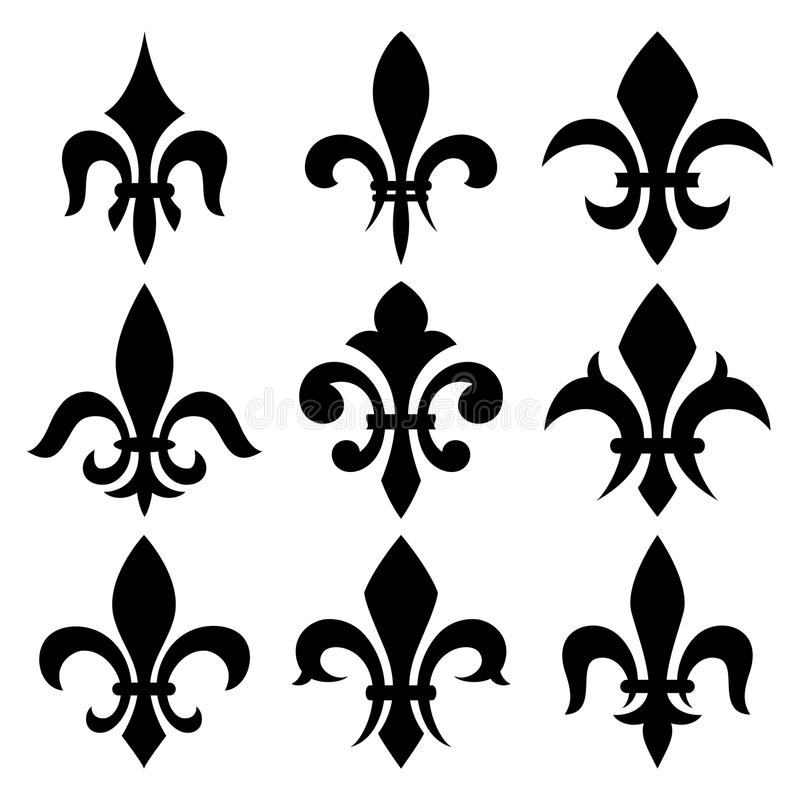 Free Fleur De Lis Set Royalty Free Stock Photos - 38723758