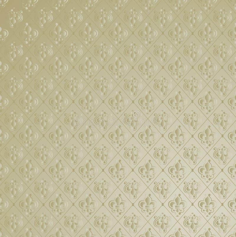 Fleur DE Lis Wallpaper Achtergrond. vector illustratie