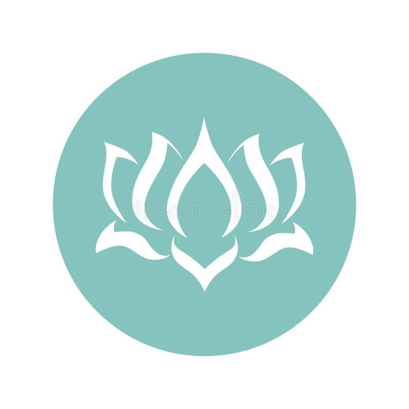 Fleur de lotus abstraite illustration de vecteur