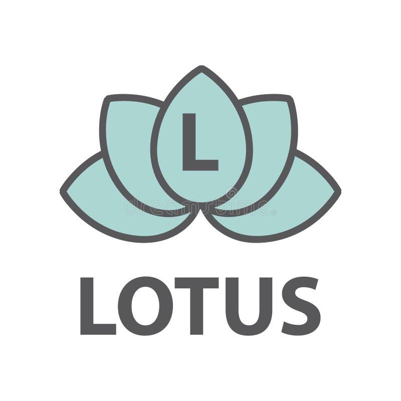 Fleur de Lotus avec le monogramme illustration de vecteur