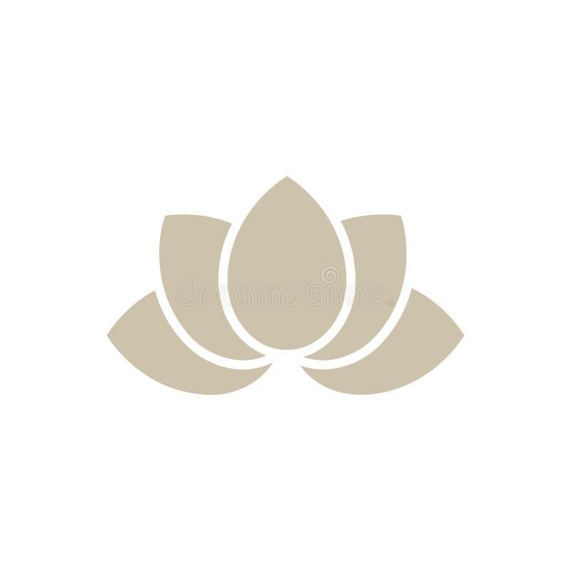 Fleur de lotus méditative de Bouddha illustration stock