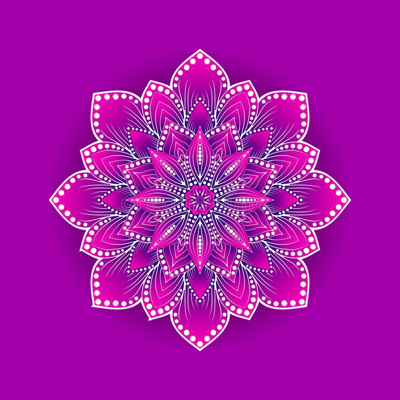 Fleur de lotus stylisée sur le fond rose illustration libre de droits