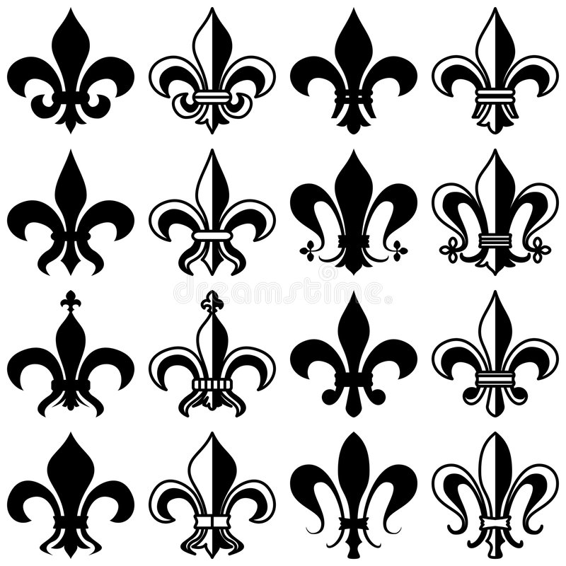 Fleur DE Lys Collection vector illustratie