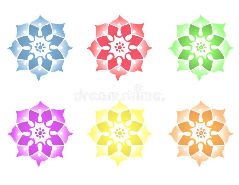 Fleur de mandala illustration de vecteur